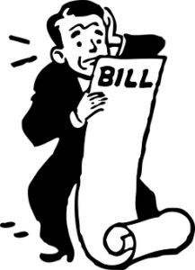man with long bills